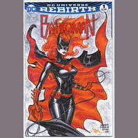 Batwoman blank cover commish by MichaelDooney
