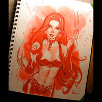 x23 watercolor commish by MichaelDooney