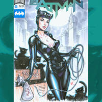 Catwoman commish cover by MichaelDooney