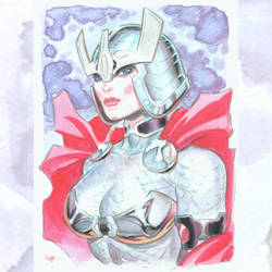 Big Barda watercolor by MichaelDooney