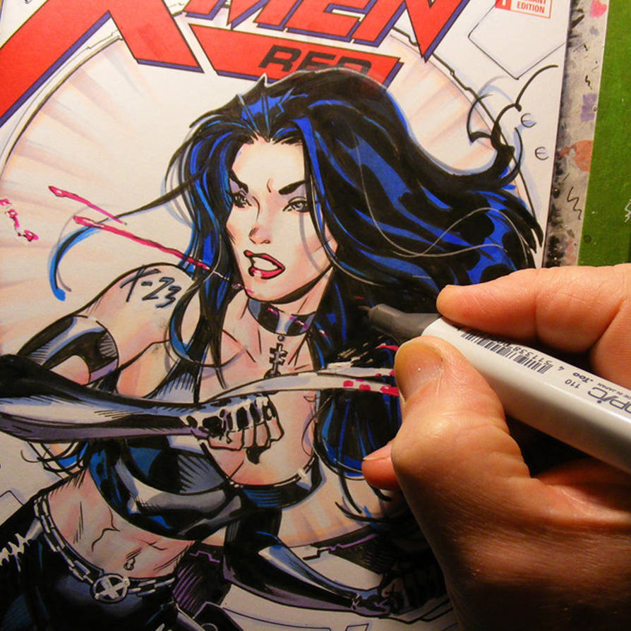X-23 commish in progress by MichaelDooney