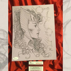 Signed Scarlet Witch art by MichaelDooney