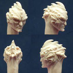 Alien head sculpt by MichaelDooney