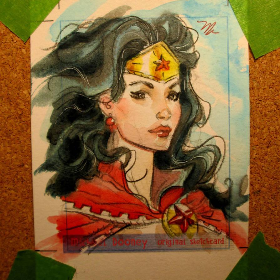 Wonder Woman sketch card by MichaelDooney