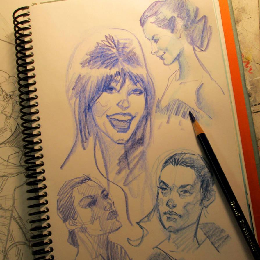 pencil heads by MichaelDooney