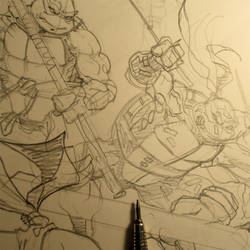 Tmnt pencils by MichaelDooney