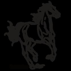 FREE Lineart - Running Pony by Darya87