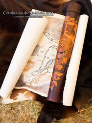 Leather document roll by Darya87