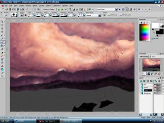 Landscape WIP by LunaQueen333
