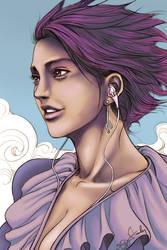 Pepper in purple by LunaQueen333