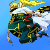 Zelda and Impa by soratani