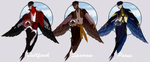 Small Bird Harpy Adoptables (CLOSED) by Mrakobulka