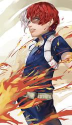 Boku no Hero Academia - Shouto Todoroki by blazpu