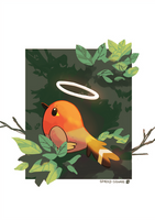 Fletchling + speedpaint by spaded-square