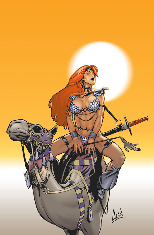 Red Sonja on a Camel by artzilla
