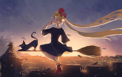 Usagi's Delivery Service by WanderingLola