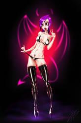 Thin latex girl by 4etJIanin