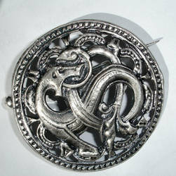 Scandinavian Dragon Brooch by Comacold-stock
