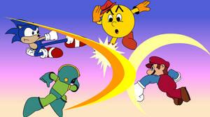 Cartoon Smash Bros by crimson-bakeneko