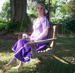 Rapunzel on Swing by LindyArt