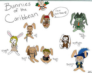 Bunnies of the Caribbean by LindyArt