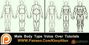 Male body type tutorials by KioryAlion