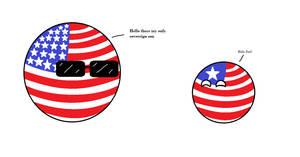 Countryball Comic 19:USA and Liberia by TomyTube733