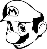 Mario head by Vojtare