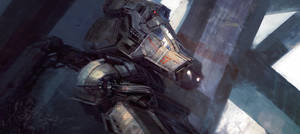digging mecha by leventep
