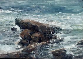 Laguna beach rock by leventep