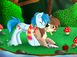 Point Commission - In the forest by VioletDanka-n-Silly