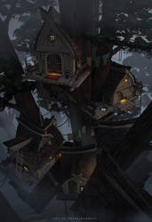 tree house by sheer-madness