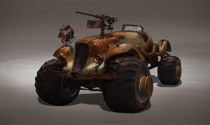 post-apocalyptic  car by sheer-madness