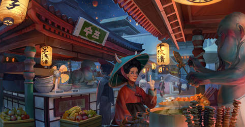 Night market. by sheer-madness