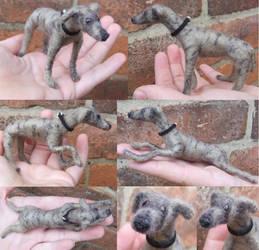 Needle felted - greyhound by kez245