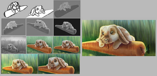 Bunny Willow Step By Step by toyas-world