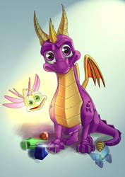 Spyro and Sparx 02 by toyas-world