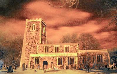 Skeffling Church 2 by moonhare77