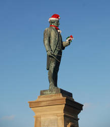 Captain Cook in Festive Mood by moonhare77