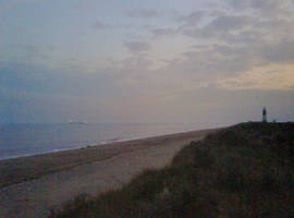 Spurn Point at Dusk by moonhare77