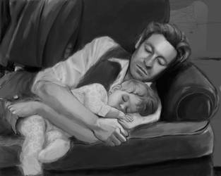 Patrick Jane + Baby by damnkarma