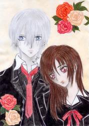 Zero and Yuuki - coloured by Inga-Kanti