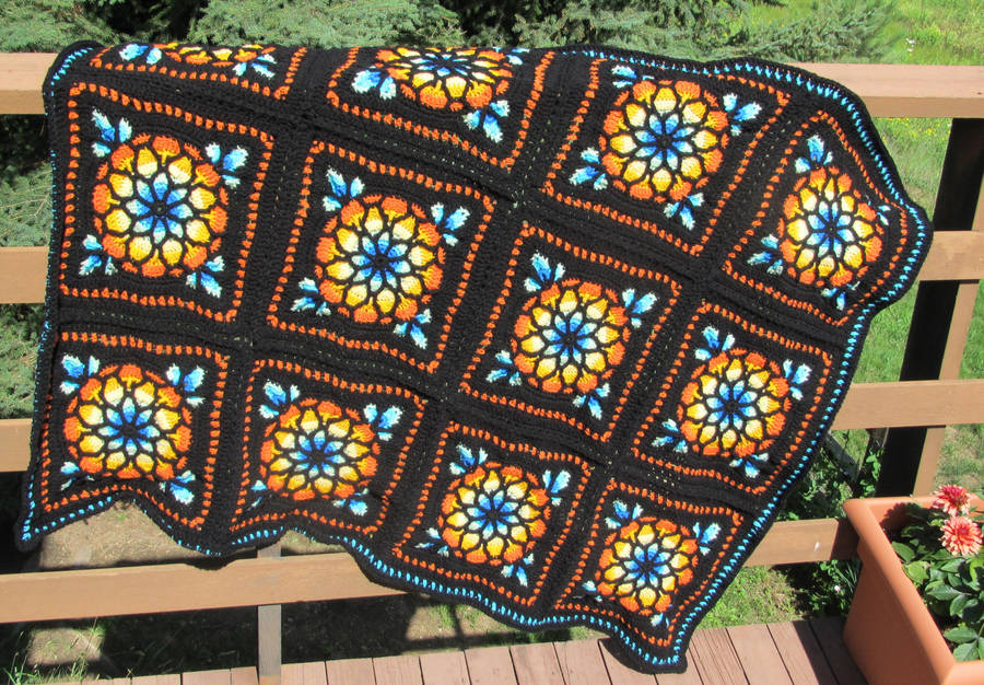 Stained Glass Window Afghan By Dulachnightflame On Deviantart