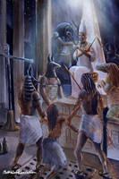 The judgement of Osiris by Furgur