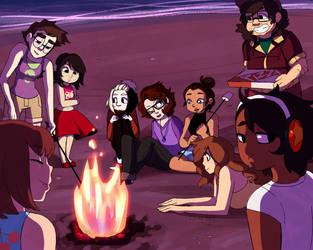 Beach City Bonfire by Linkerbell