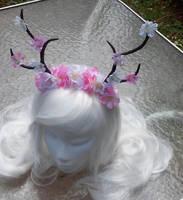 Cherry Blossom Antlers by littlebitakit