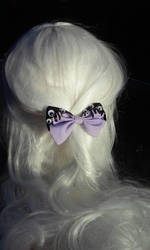 Bio hazard bow (purple and black) by littlebitakit