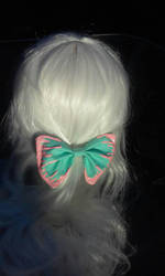 Side slime bow (mint and pink) by littlebitakit