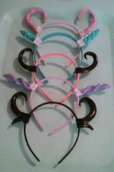 Horn Headbands (WIP) by littlebitakit