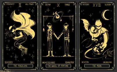 OC Tarot Cards - II, X, XVII by Frankychan1